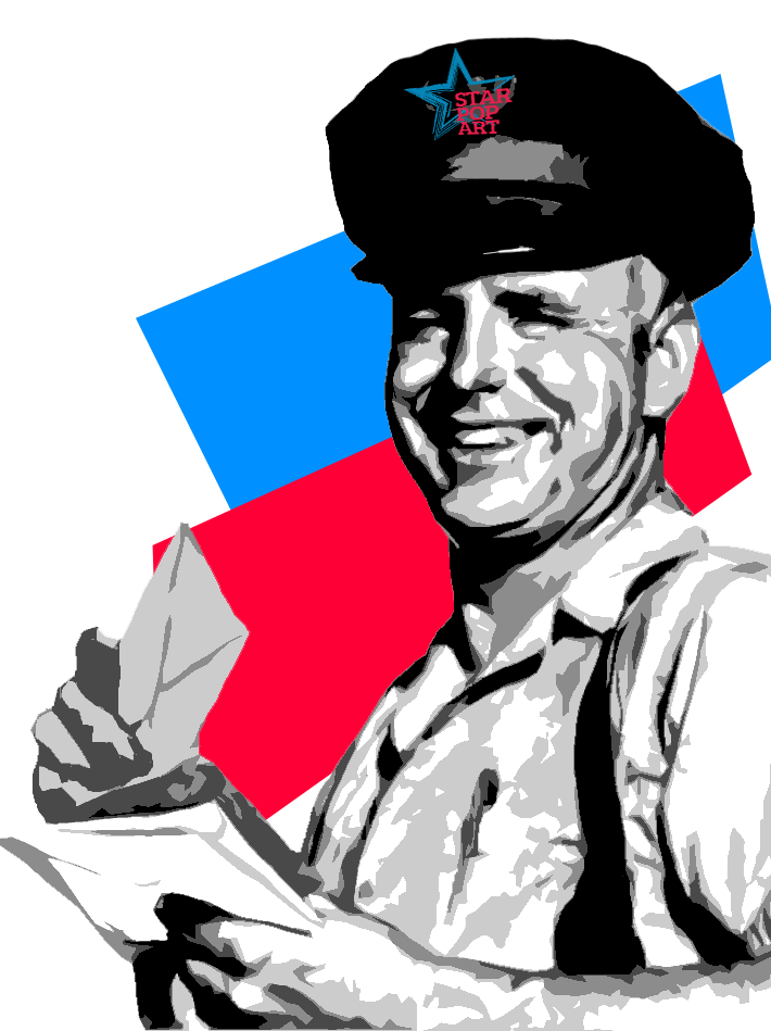pop art poštár