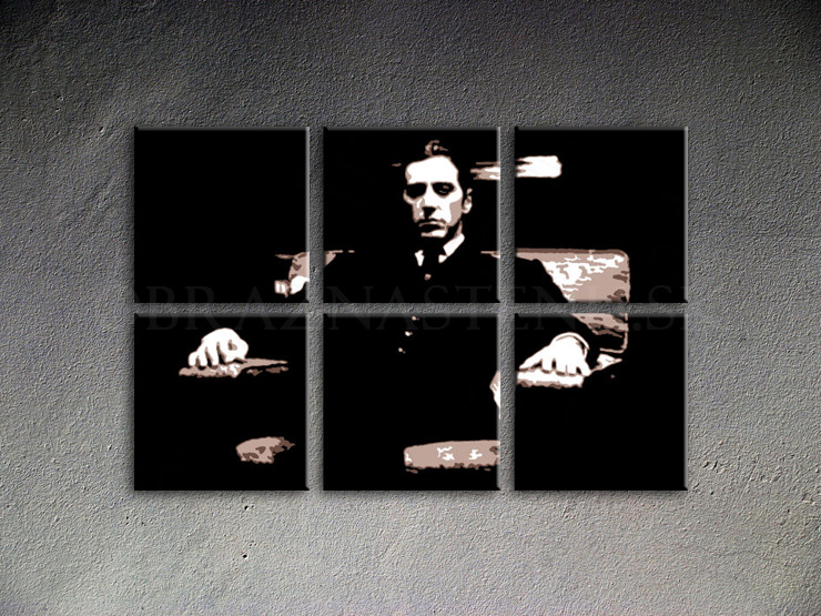 Malovaný POP ART obraz na stěnu Godfather