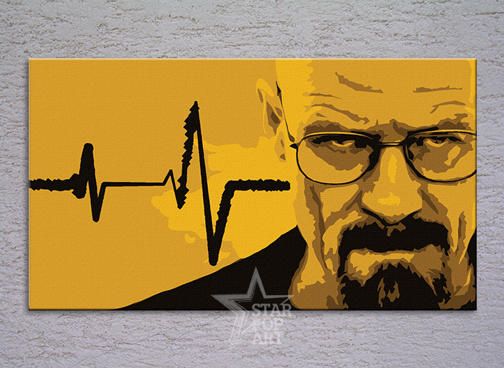 Malovaný POP ART obraz na stěnu BREAKING BAD