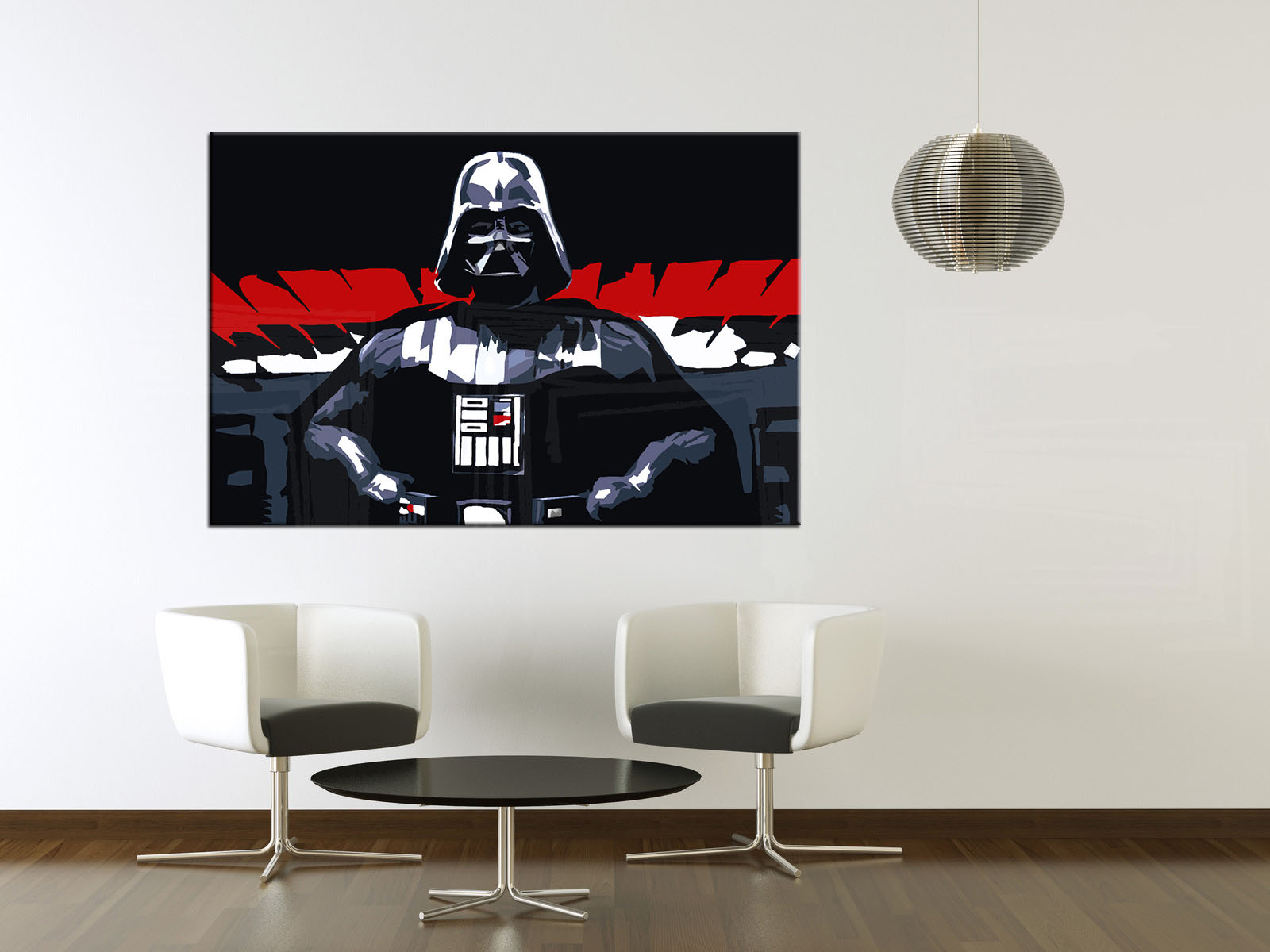 Malovaný POP ART obraz na stěnu STAR WARS - Darth Vader